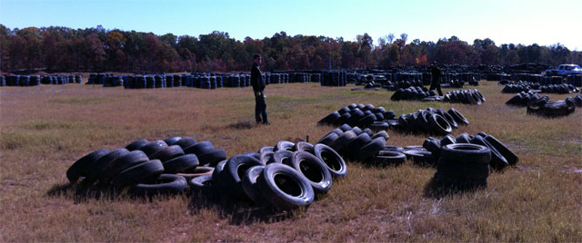 Team Exomotive Bands Tires at Atlanta Motorsports Park