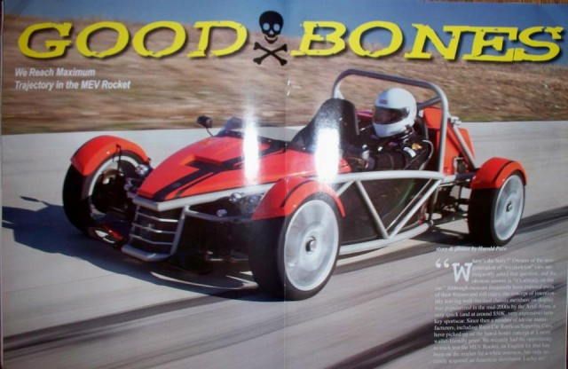 MEV Rocket featured in Kit Car Builder Magazine