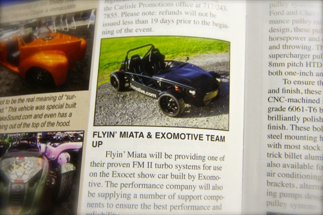 Exomotive teams up with Flyin' Miata!