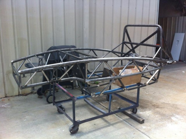 New Exocet Sport about to be Media Blasted and Powder Coated