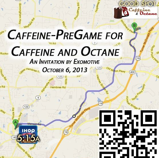 Come join us for another Caffeine and Octane!