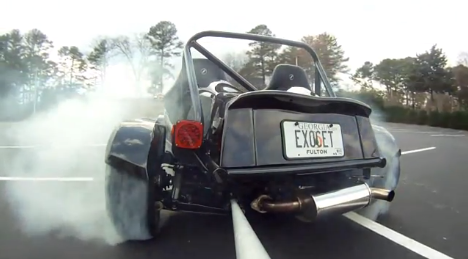 Slow-motion Exocet burn out