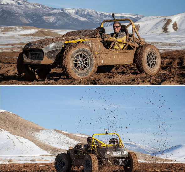 Slinging mud and having fun!