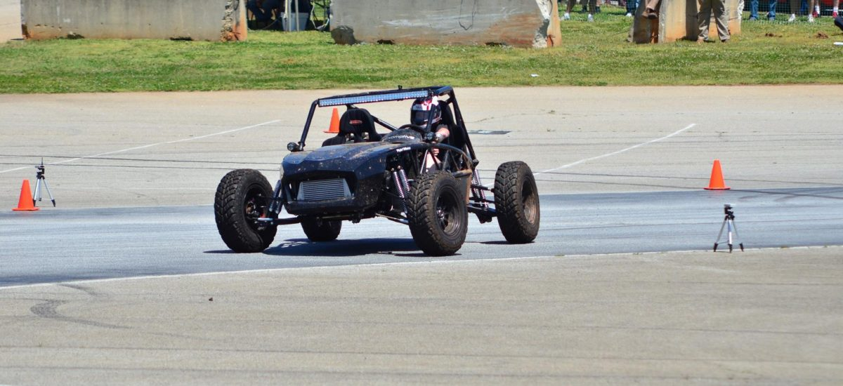 The off-road prototype still pulled close to 1G…