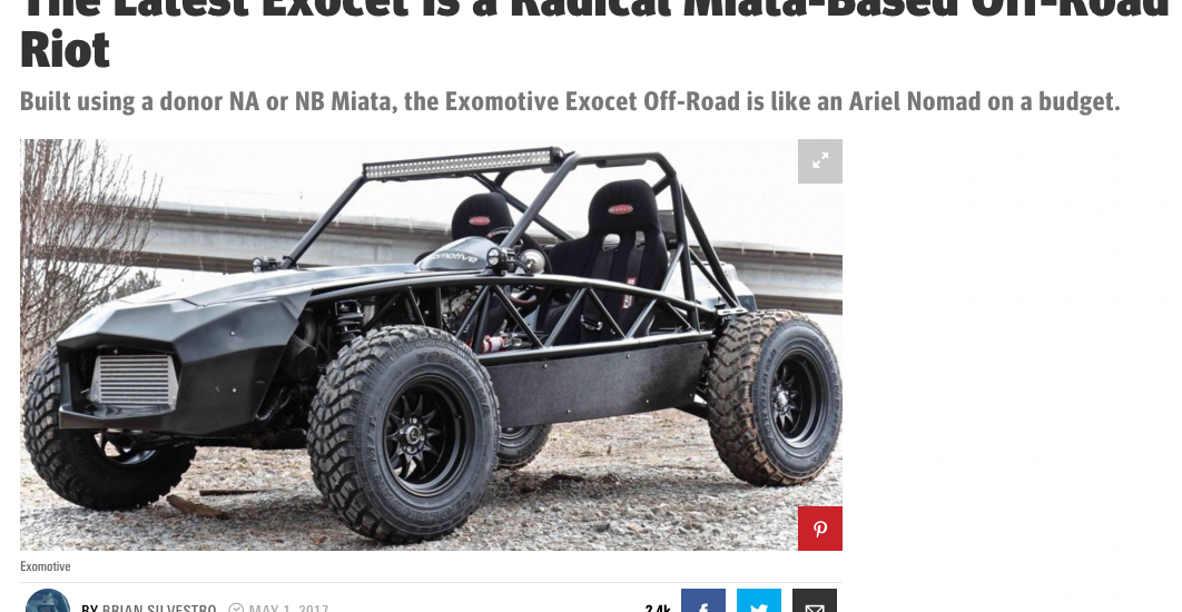 Road & Track feature for the Exocet Off-Road