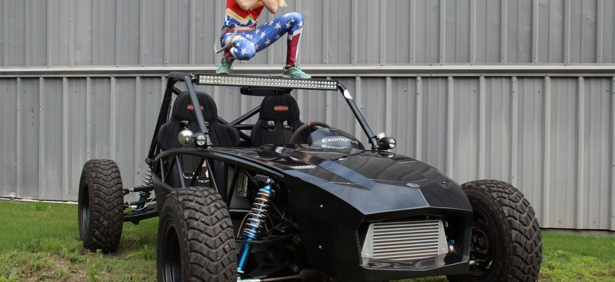 Exomotive's own WonderWoman doesn't need an invisible jet.