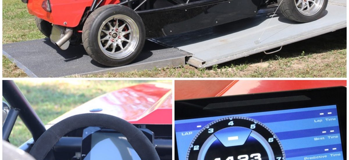 LFX V6 Exocet Race Gets a New AiM MXP Digital Dash