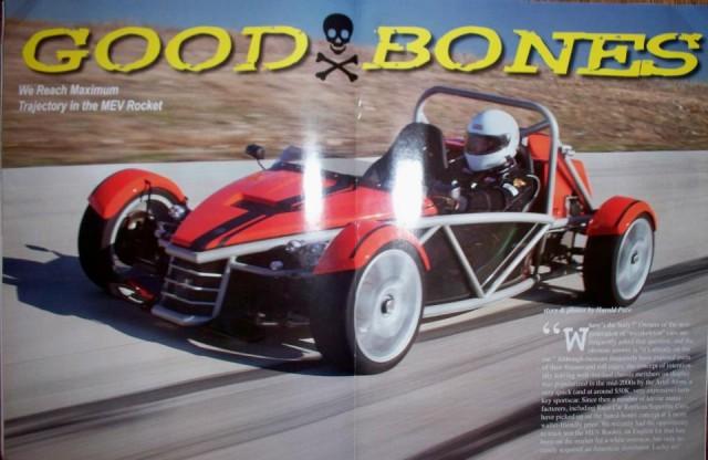 MEV Rocket featured in Kit Car Builder Magazine