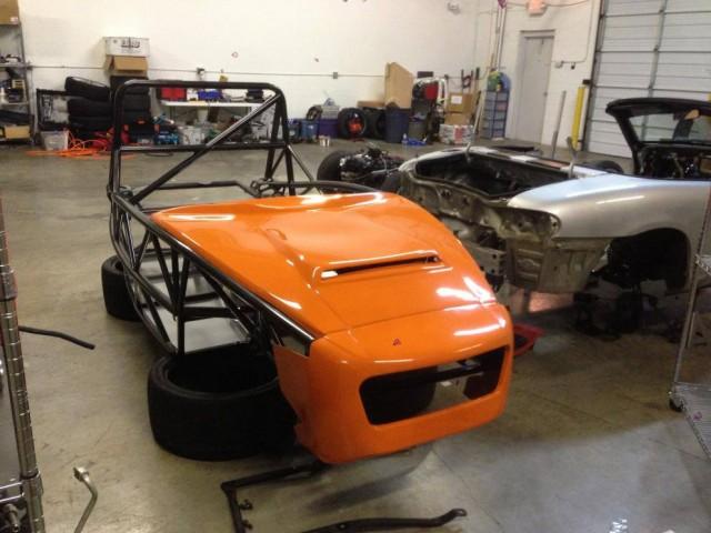 Exocet Sport - Traffic Orange and Crystal Grey