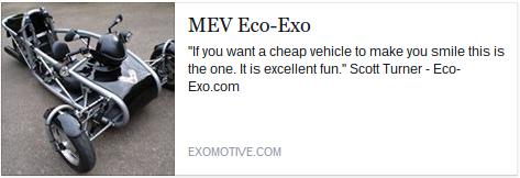 Exomotive becomes US distributor of the Eco-Exo and Eco-Exo R