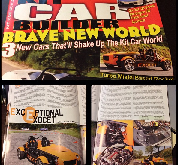 The latest Kit Car Builder Magazine features the Exocet
