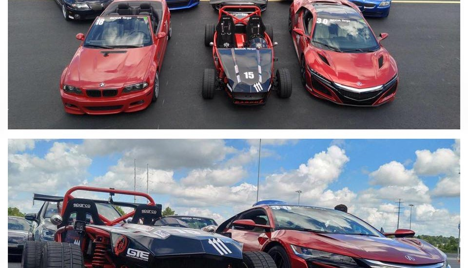 The group of toys preps for the SCCA Targa Southland