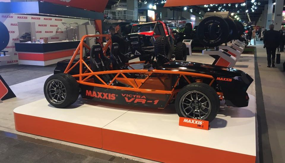 Setting up for the SEMA Show