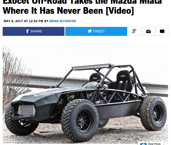 Car and Driver loves the Exocet Off-Road!