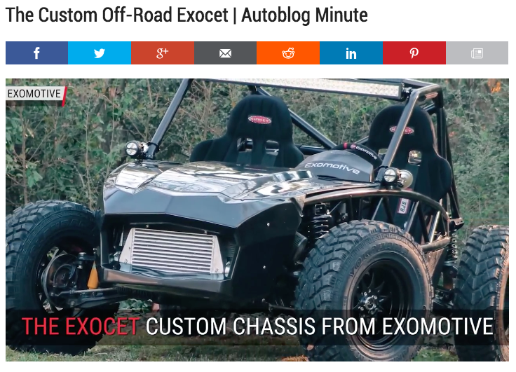 Exocet Off-Road Autoblog Minute feature!